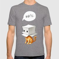 Cat in the Box 2 Mens Fitted Tee Tri-Grey SMALL
