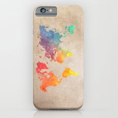 World Map Maps iPhone 6 Slim Case