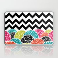 Tropical Flowers Chevron Laptop & iPad Skin