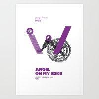 Bike to Life - AngelonmyBike Art Print