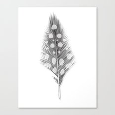 Polka Dotted Feather Canvas Print
