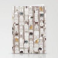 urban jungle pebble Stationery Cards