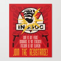 Join The Resistance Canvas Print