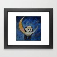 Panda Stars Framed Art Print