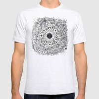 Flower circle Mens Fitted Tee Ash Grey SMALL