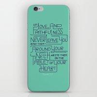 2/52: Proverbs 3:3 Print iPhone & iPod Skin