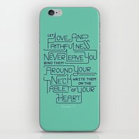 2/52: Proverbs 3:3 print iPhone & iPod Skin