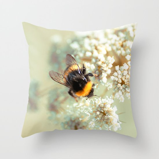 Bumblebee. Throw Pillow
