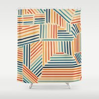 Strypes Shower Curtain