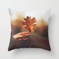 Catching a bit of Autumn Throw Pillow