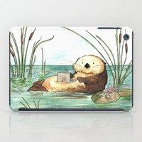 Otter on a Laptop iPad Case