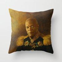 Samuel L. Jackson - Repl… Throw Pillow