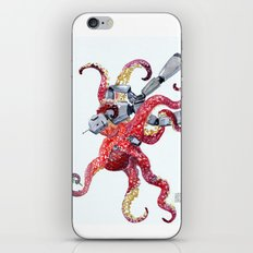 Robot Octopus Tango Date iPhone & iPod Skin