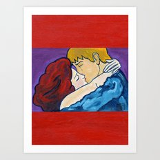 2010 The kiss revisited  Art Print
