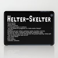 Helter Skelter (white on black) iPad Case