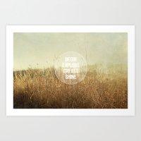begin.explore.create.shine. Art Print