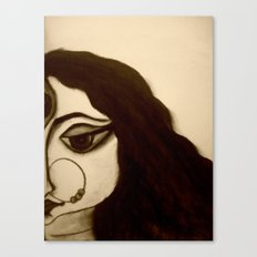 Goddess Durga in charcoal Canvas Print