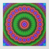 Mandala Flower Bouquet Canvas Print