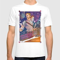 GALACTIC GAMBLE Mens Fitted Tee White SMALL