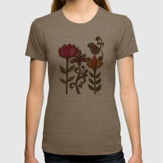 In the garden Womens Fitted Tee Tri-Coffee SMALL