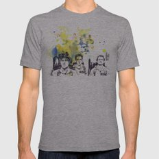 Ghostbusters Peter Venkman, Egon Spengler, Raymond Stantz Mens Fitted Tee Athletic Grey SMALL