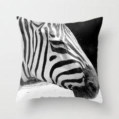 b&w zebra Throw Pillow