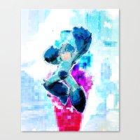 Mega Man WaterPixel (cre… Canvas Print