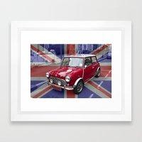 British Classic Mini car Framed Art Print