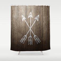 3 Cross Arrows Shower Curtain