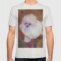Toy Poodle Mens Fitted Tee Silver SMALL