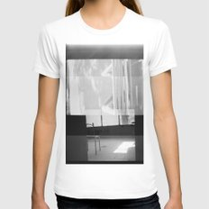 distortion Womens Fitted Tee White SMALL