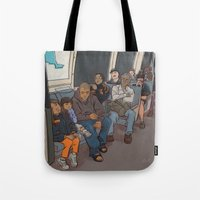 SUBWAY CROWD Tote Bag