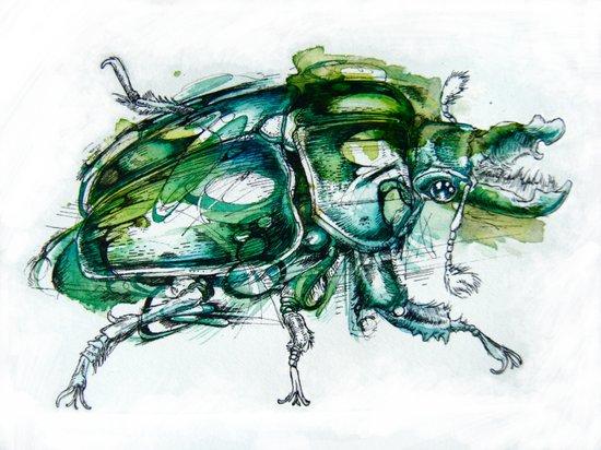 Great Green Goliath Art Print