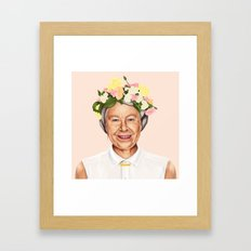 Hipstory - Queen Elizabe… Framed Art Print