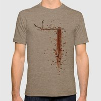 Splattered Mens Fitted Tee Tri-Coffee SMALL