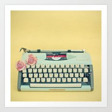 The Typewriter Art Print