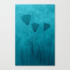 Tall Poppies -Blue Canvas Print