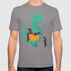 T-Rex And His Basketful … Mens Fitted Tee Tri-Grey SMALL
