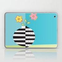 round whimsy vases with flowers Laptop & iPad Skin