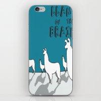 Llama on the Brains 2 iPhone & iPod Skin