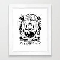 Need More Brains! Framed Art Print