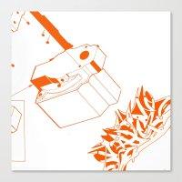 Orange Tech Canvas Print