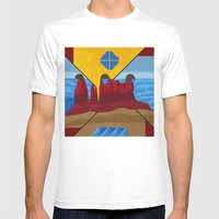 Monument Valley Mens Fitted Tee White SMALL