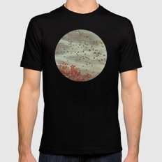 The Cusp of Winter Mens Fitted Tee Black SMALL
