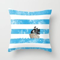 Pirates Love Stripes Throw Pillow