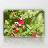 Busy bee in the flowers Laptop & iPad Skin