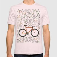 Fixed Gear Bikes Mens Fitted Tee Light Pink SMALL