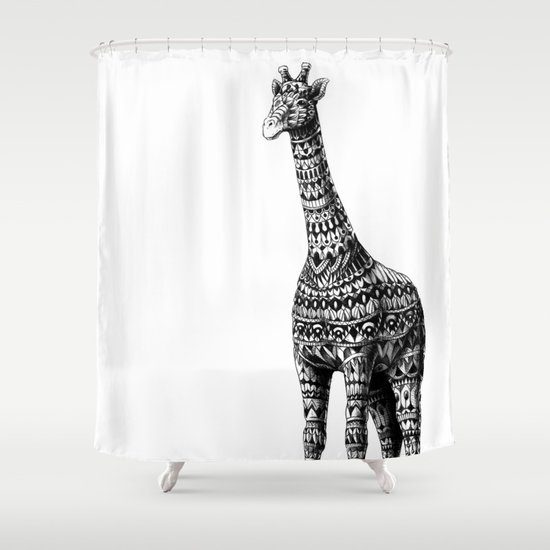 Ornate Giraffe Shower Curtain