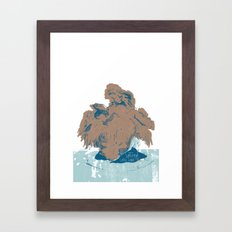 Surtseyan Volcanic Eruption Framed Art Print
