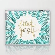 Treat Yo Self – Gold &… Laptop & iPad Skin